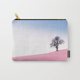 Pink Field Landscape Carry-All Pouch