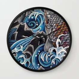 Koi by Sebastian Orth Wall Clock