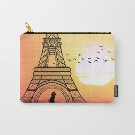 Sunset Eiffel Tower Carry-All Pouch