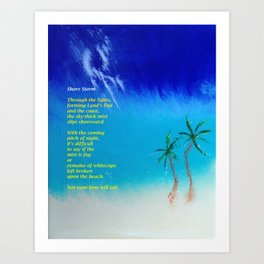 Tropical Storm, #2 with Poem Art Print