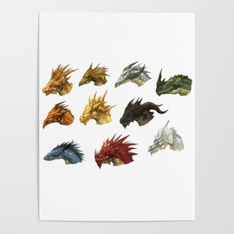 wings of fire head dragon Poster
