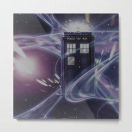 TARDIS SPACE Metal Print