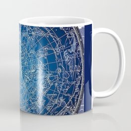 Vintage Celestial Constellations 17th Cenurty Star Map - Star Chart of the Constellations Coffee Mug