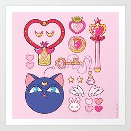 Small Lady Starter Kit  Art Print