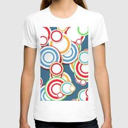 Pattern circle top T-shirt
