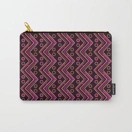 Gold Foil Arizona Chevron in Violet and Black Carry-All Pouch