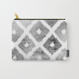 Silver faux leaf modern abstract geometric pattern Carry-All Pouch
