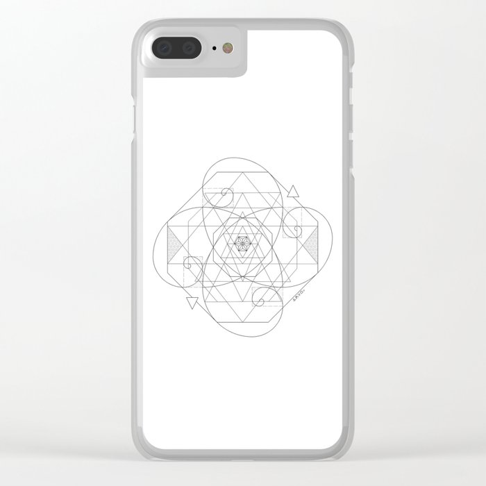 brand new c2ac4 0d872 Fibonacci Geometric Mandala Clear iPhone Case by colochoamvo