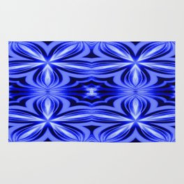 Electric Blue Pattern Rug