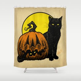 Still Life with Feline and Gourd Shower Curtain