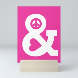 Peace and Love (pink edition) Mini Art Print