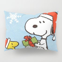snoopy and woodstock christmas in home Pillow Sham