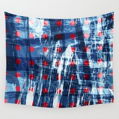 dots on blue ice Wall Tapestry