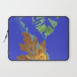Oak Leaf on Royal Blue Painting Laptop Sleeve