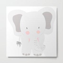 Elephant - jumbo GREY Metal Print
