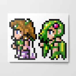 Final Fantasy II - Rosa and Rydia Metal Print