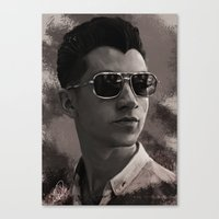 alex turner Canvas Prints featuring Alex Turner by Tune In Apparel