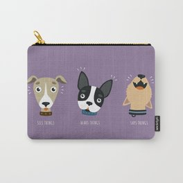 Three wise dogs Carry-All Pouch