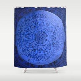 Sapphire Mandala Shower Curtain