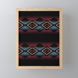 aztec in black number 5 Framed Mini Art Print