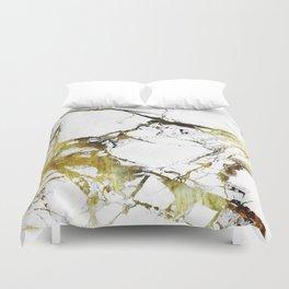 Gold-White Marble Impress Duvet Cover