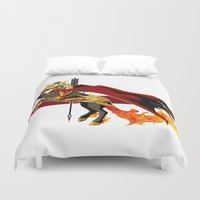 smaug Duvet Covers featuring Smaug by MarieJacquelyn