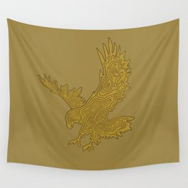 Topographic Eagle Wall Tapestry