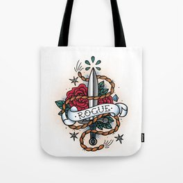 Rogue - Vintage D&D Tattoo Tote Bag