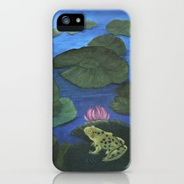 Hide and Seek with Frog and Dragonfly iPhone Case
