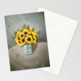 Jar of Sunflowers Stationery Cards