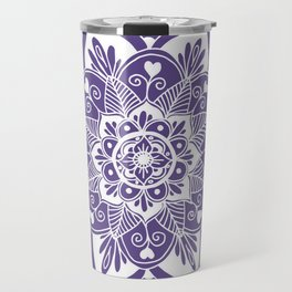 Ultraviolet Flower Mandala Travel Mug