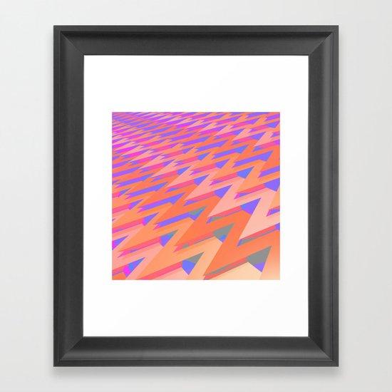 Pastel ZigZag Pattern Framed Art Print