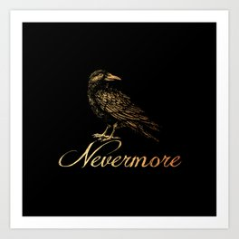 'Nevermore' Art Print