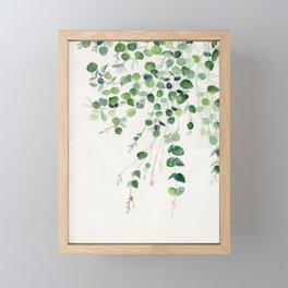 Eucalyptus Watercolor Framed Mini Art Print