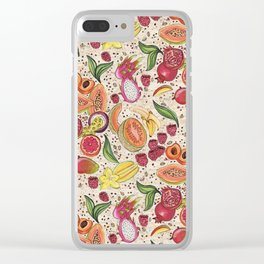 Ready to Eat - Fruit Pattern in White Clear iPhone Case