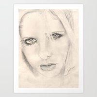 buffy Art Prints featuring buffy by als3