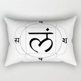 root chakra Muladhara Rectangular Pillow