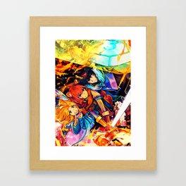 Colorful Shield Team Framed Art Print