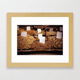 Markthall stall Framed Art Print