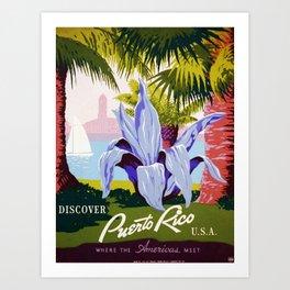 Vintage poster - Puerto Rico Kunstdrucke
