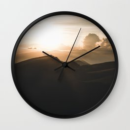 a beautiful Sunset in the Dolomites Wall Clock