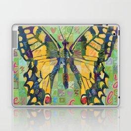 Butterfly (Swallowtail On Green) Laptop & iPad Skin