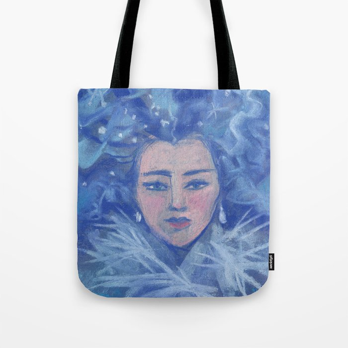 Snowgirl, fantasy art, Christmas &  New Year Tote Bag