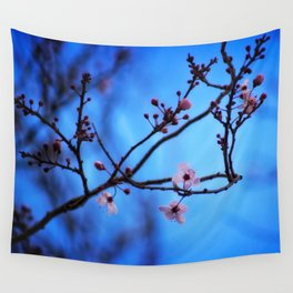 Blossom in Blue Wall Tapestry