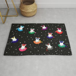 Sailor Suits in Outer Space Rug