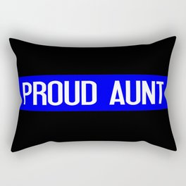 Police: Proud Aunt (Thin Blue Line) Rectangular Pillow