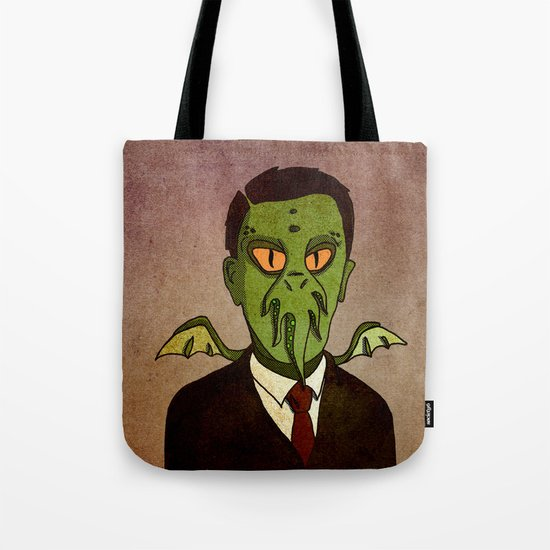 Prophets of Fiction - H.P. Lovecraft /Cthulhu Tote Bag