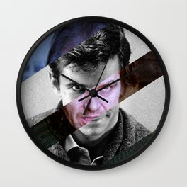 MashUp of Norman Bates & Jack Torrance Wall Clock