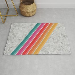 Retro Pattern - Downhill Concrete #881 Rug