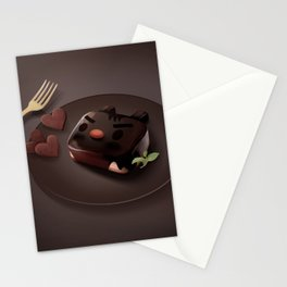 Chocolate Brownie Stationery Cards